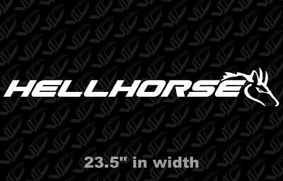Hellhorse - Banner - White Ford Mustang GT Cobra 5.0 4.6 Coyote Sticker Decal
