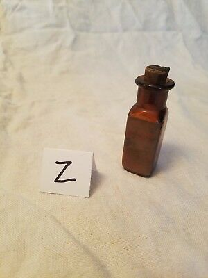 Vintage amber John Wyeth & Brother Strychnine Sulphate apothecary bottle