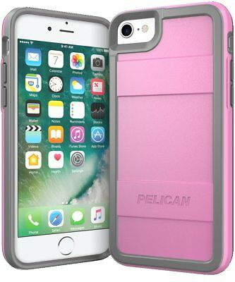 Pelican Protector iPhone 7 Case (Pink/Gray) FACTORY SEALED* SHIPS NEXT DAY*