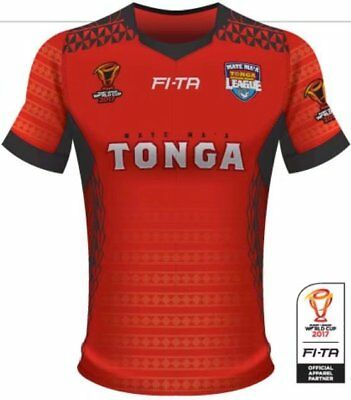 New 2017 RWC Tonga World Cup Rugby Jersey Men