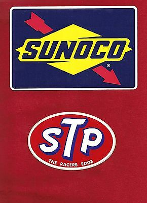 Sunoco Stp  Stickers (2) Lot Nascar Racing Indy Toolbox