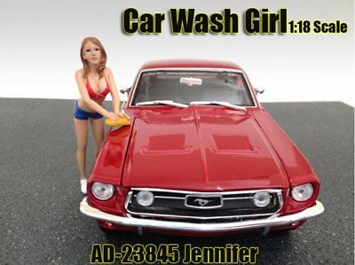 Car Wash Girl Jennifer Figure - American Diorama Figurine 23845 - 1/18 scale