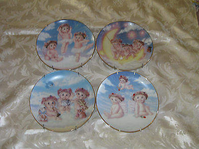 Lot of 4 Dreamsicle Plates  1994-1996 all with Plate Hangers Attached