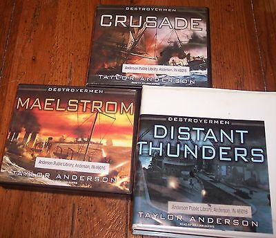 3 Unabridged (Almost) Destroyermen Audiobooks by Anderson on CD: Books 2, 3, & 4