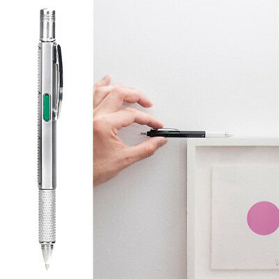 NEW Kikkerland 4-in-1 Pen Tool-  Pen, Ruler, Level, Screwdriver Fathers Day Gift