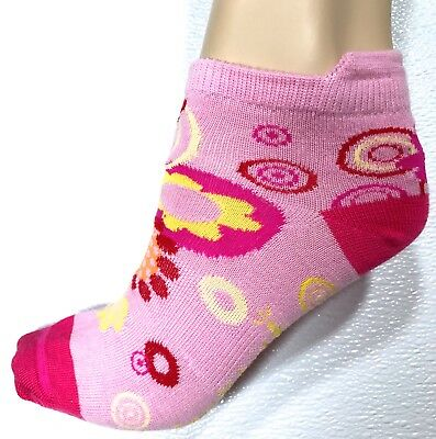 Smartwool (2 Pairs) FLOWER POWER Ultra Comfy Socks Kid's Sz L GIRLS Pink NWT