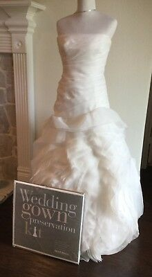 Vera Wang WHITE Wedding Dress Organza Size 12 Made fit 10 - 8 with SOLD OUT