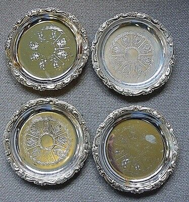 4 Silver plate Coasters EP on Steel Made in Italy PROMO PLATES READERS DIGEST