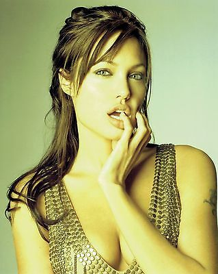 8x10 Glossy Photo of Angelina Jolie Color