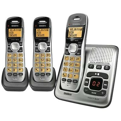 Uniden DECT1735+2 Three Handset Cordless Home Phone with Answering Machine New