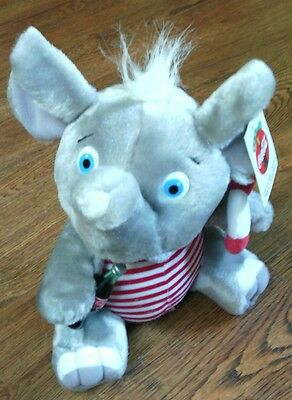 """Vintage 1993 COCA COLA Coke Bottle On 10"""" PLUSH ELEPHANT Play by Play **Tags**"""