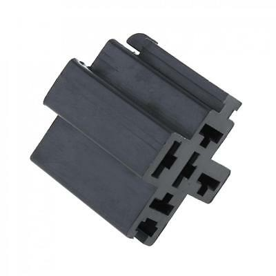 12V Mini Relay Socket Block Holder Connector With 5pc Terminals Panel Mount Car