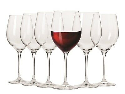 NEW Krosno Vinoteca Red Wine Glass 450ml Set of 6 RRP $59.95