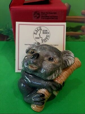 KEVIN FRANCIS Face Pots * BRUCE THE KOALA BEAR * Trinket Box L.E. of 736 MIB