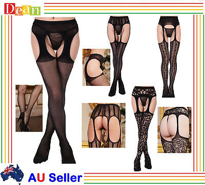 Women Lady LINGERIE Open Crotch Fishnet Stockings Pantyhose CROTCHLESS Tights