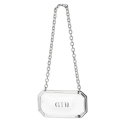 NEW Whitehill Silver Plated Reed Decanter Label Gin