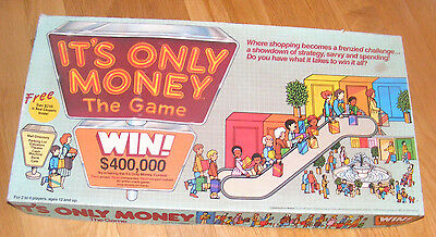 NEW Vintage 1987 IT'S ONLY MONEY Board Game! SHOPPING MALL GAME!! NEVER PLAYED!!