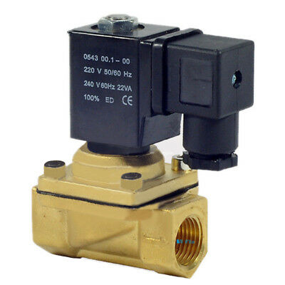 "DC 12V Electric Solenoid Valve Switch Water Air G3/8"" Brass Normally Closed N/C"