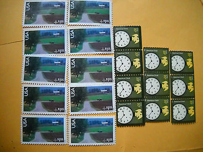 NO GUM 10 Global 2 Stamp Combos Forever Rate 115 USA Stamps 1150 Face Value