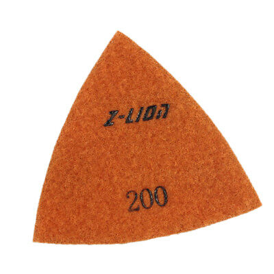 200 Grit Electroplated Triangular Polishing Diamond Oscillating Pads 93mm