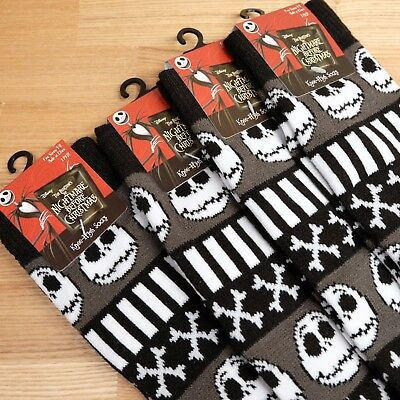 One Pair Nightmare Before Christmas Jack Skellington Long Knee High Socks Cosme