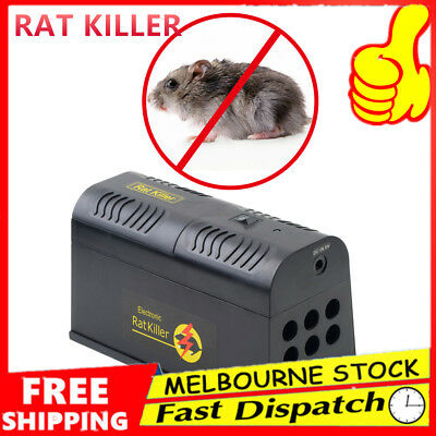 New Rodent Killer Electric Electronic Rat Mouse Mice Repellant Trap Au Stock BU`