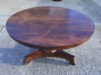 Large Original Victorian Rosewood Tilt Top Breakfast Table  Delivery Available