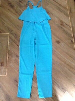 Girls 915 New Look Turquoise Cat Suit Play Jump Suit Trousers Age 9Yrs Brand New