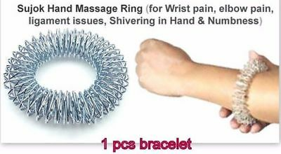 Acupressure Big Ring Sujok Bracelet Wrist Hand Massager Improve Circulation