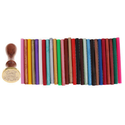 Retro Envelope Sealing Wax Stamp Merry Christmas+5 Seal Stick for Invitation