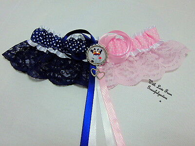 Minnie & Mickey Disney Lace Bridal Wedding Garter. Any 2 characters