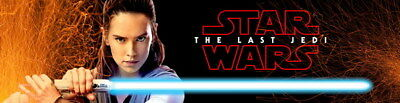 """051 Star Wars The Last Jedi - Daisy Ridley Action USA 2017 Movie 54""""x14"""" Poster"""