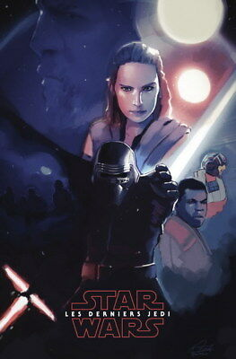 """049 Star Wars The Last Jedi - Daisy Ridley Action USA 2017 Movie 14""""x21"""" Poster"""