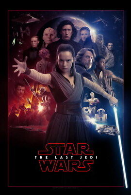 """043 Star Wars The Last Jedi - Daisy Ridley Action USA 2017 Movie 24""""x35"""" Poster"""