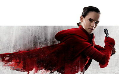 """048 Star Wars The Last Jedi - Daisy Ridley Action USA 2017 Movie 38""""x24"""" Poster"""