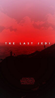 """045 Star Wars The Last Jedi - Daisy Ridley Action USA 2017 Movie 24""""x42"""" Poster"""