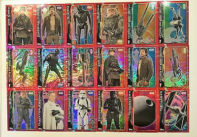 Topps Star Wars ROGUE ONE Holo,Halbtransp.,Sticker 161-212_1 Karte aussuchen