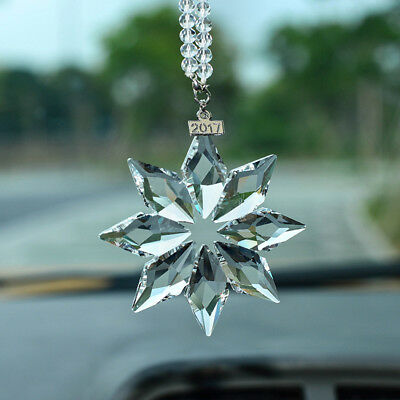 Annual Edition Eight petals snowflake Large Christmas Ornament Crystal 2017