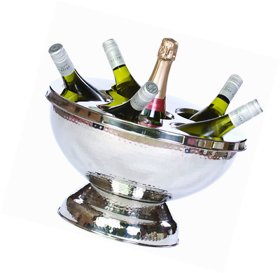Stainless Steel Champagne Cooler Wine Cooler Holds Up To Six Bottles & Ice