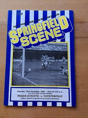 Wigan Athletic v Chesterfield programme 1980/81