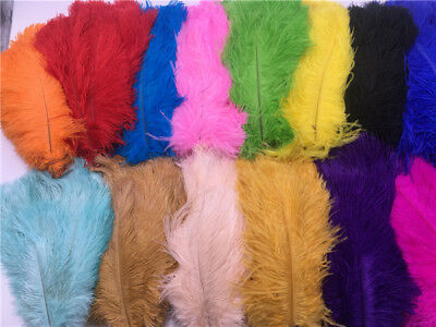 Wholesale 10-100 pcs natural ostrich feathers 6-16 inch/15-40cm 20 Colors