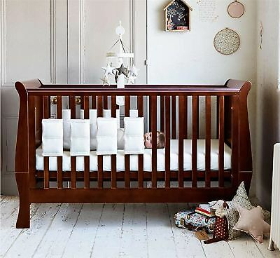 8 Pack Baby Safety Crib, Cot Bed Bumper Bars Set - White