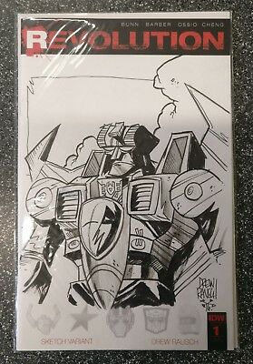 Revolution #1 Sketch Variant Drew Rausch ORIGINAL ART Transformers