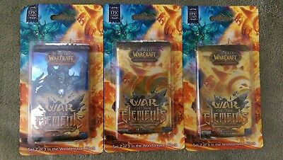 WoW TCG War of the Elements Blister Pack Booster x3 - World of Warcraft Sealed