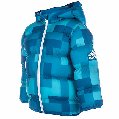 adidas baby boys blue padded coat. Infants coat. Infant jacket. Sizes 3-24 month