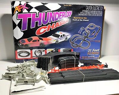 Vintage Afx Slot Car Set By Tomy | Ford Licensed | Thunderloop Chaser Incomplete