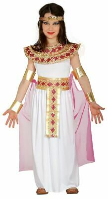 Girls Pink Egyptian Queen of Nile Cleopatra Fancy Dress Costume Book Day Outfit