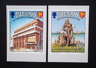 Stamps   ,2- Isle Of Man Post Office Stamp  (Phq)  Cards .1983. (Un-Stamped)