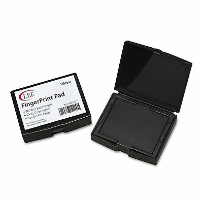 LEE Inkless Fingerprint Pad 2 1/4 x 1 3/4 Black