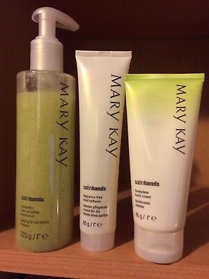 Mary Kay Expired Honeydew Melon Satin Hands Pampering Set Clearance New